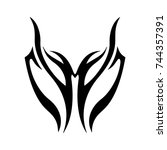 tattoo designs. tattoo tribal... | Shutterstock .eps vector #744357391