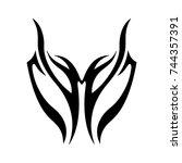 tattoo designs. tattoo tribal... | Shutterstock .eps vector #744357391