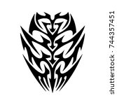 tattoo designs. tattoo tribal... | Shutterstock .eps vector #744357451