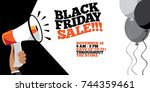 black friday sale background... | Shutterstock . vector #744359461
