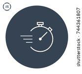 stopwatch line vector icon   Shutterstock .eps vector #744361807