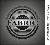 fabric dark emblem | Shutterstock .eps vector #744367129