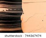 makeup foundation blur cream...   Shutterstock . vector #744367474
