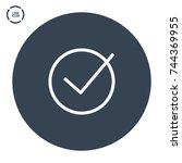 tick checkmark line vector icon | Shutterstock .eps vector #744369955