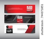 black friday sale design banner ... | Shutterstock .eps vector #744371851