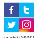 valencia  spain   march 15 ...   Shutterstock . vector #744373411