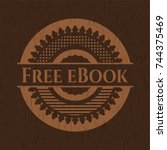 free ebook badge with wood...