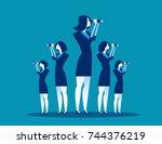 business vision. business team... | Shutterstock .eps vector #744376219