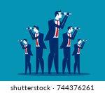 business vision. business team... | Shutterstock .eps vector #744376261
