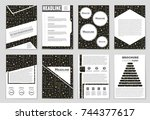 abstract vector layout... | Shutterstock .eps vector #744377617