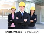 a handsome business man and... | Shutterstock . vector #74438314