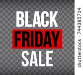 abstract vector black friday... | Shutterstock .eps vector #744385714