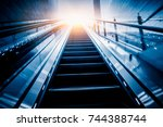 the elevator with modern... | Shutterstock . vector #744388744