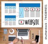web design layout sketch...