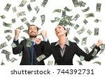 money shower | Shutterstock . vector #744392731