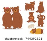 cartoon bear character teddy... | Shutterstock .eps vector #744392821