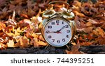 time to fall back | Shutterstock . vector #744395251