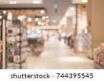 abstract blur image of people... | Shutterstock . vector #744395545