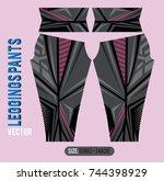 leggings pants fashion vector... | Shutterstock .eps vector #744398929