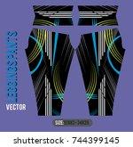 leggings pants fashion vector... | Shutterstock .eps vector #744399145