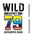 brooklyn wild t shirt print...   Shutterstock .eps vector #744400561