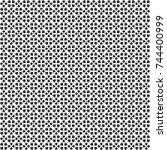 seamless abstract black texture ... | Shutterstock . vector #744400999