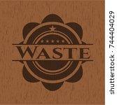 waste wooden signboards | Shutterstock .eps vector #744404029