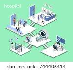 isometric 3d vector... | Shutterstock .eps vector #744406414
