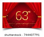 63rd anniversary logo with...