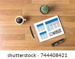 website designer working layout ...   Shutterstock . vector #744408421