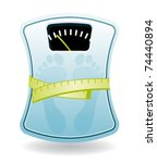 bathroom scale. diet concept. | Shutterstock .eps vector #74440894