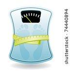 bathroom scale. diet concept. | Shutterstock .eps vector #74440894