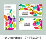abstract trendy illustration... | Shutterstock .eps vector #744411049