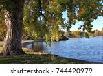 fall foliage colors at... | Shutterstock . vector #744420979