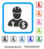 worker salary icon. flat gray... | Shutterstock .eps vector #744430939