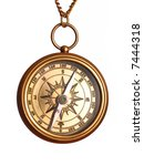 antique brass compass isolated... | Shutterstock . vector #7444318