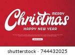 christmas background vector... | Shutterstock .eps vector #744432025