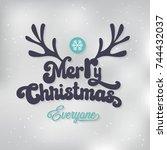 christmas background vector... | Shutterstock .eps vector #744432037