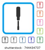 screwdriver icon. flat gray... | Shutterstock .eps vector #744434737
