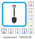 shovel icon. flat gray...