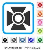 searchlight icon. flat grey...