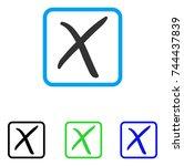 x cross icon. flat gray...