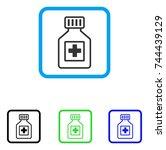 pharmacy vial icon. flat grey...
