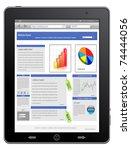 tablet computer   mobile phone  ... | Shutterstock .eps vector #74444056