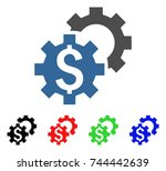 financial settings icon. vector ... | Shutterstock .eps vector #744442639