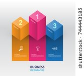 abstract infographics business... | Shutterstock .eps vector #744443185