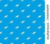 parazavrolofus pattern repeat...   Shutterstock .eps vector #744444499