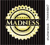 madness gold shiny badge | Shutterstock .eps vector #744444847