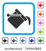 paint bucket icon. flat gray...