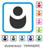person icon. flat gray...
